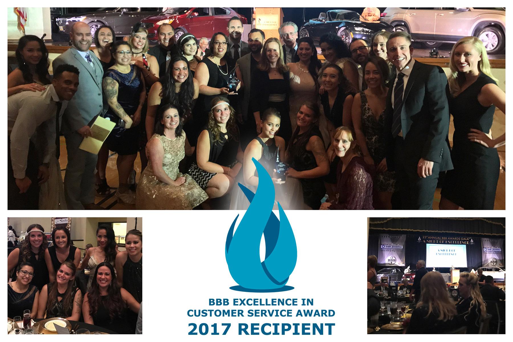 BBB 2017 Ceremony Customer Service Award